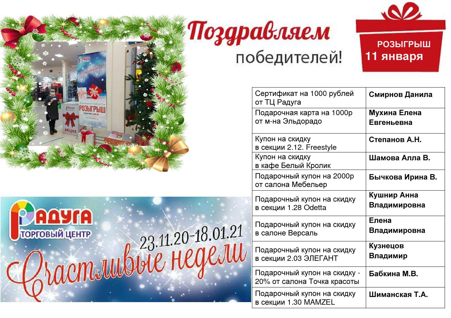 в Новости Розыгрыш 11 января
